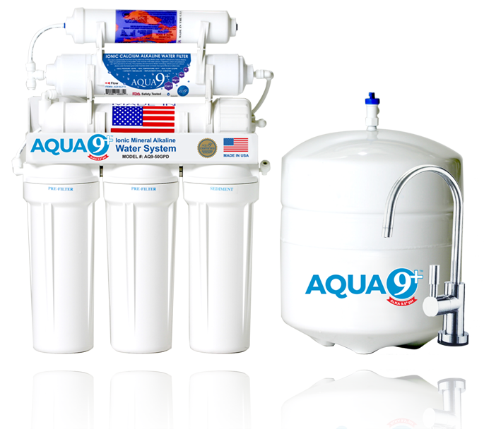 AQUA 9+ Ionic Mineral Alkaline HOME WATER SYSTEM   7 Stage
